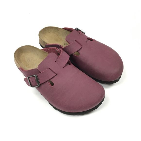 ee4c1c368e78ad Birkenstock Shoes - Birkenstock Boston 39 Womens 8 Vegan Burgundy Micr